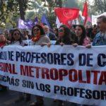 Profesores marcharon en el Día de las y los trabajadores