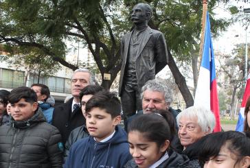 Homenaje a José Martí en barrio Yungay