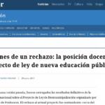Un análisis de los resultados de la Consulta Nacional y el rechazo del profesorado al proyecto gubernamental