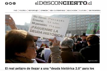 """El Desconcierto publica columna de Pdte. Regional sobre """"Deuda Histórica 2.0"""""""