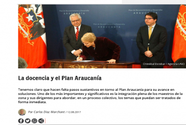 En 'El Desconcierto' el Pdte. Regional reflexiona sobre Educación y represión en el Wallmapu