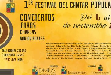Más de cien músicos serán parte del Primer Festival del Cantar Popular de la Universidad de Chile