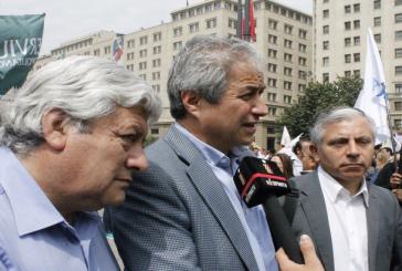 Gremio docente participa en movilizaciones de los trabajadores del sector Público