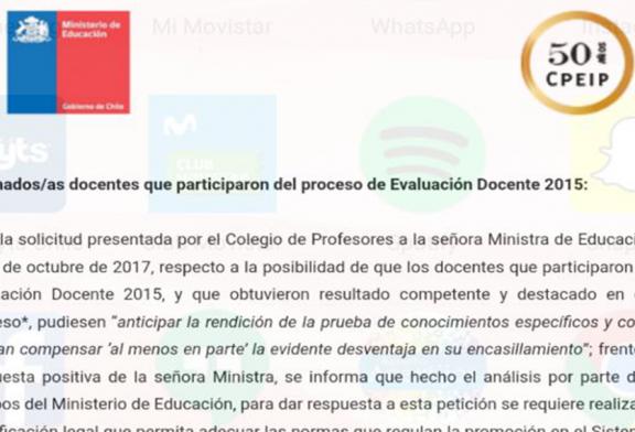 Acuerdo Mineduc-Colegio de Profesores es anunciado por la entidad gubernamental, avanzando en su concreción