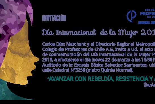 Invitación a acto por el Día de la 'Mujer Profesora'