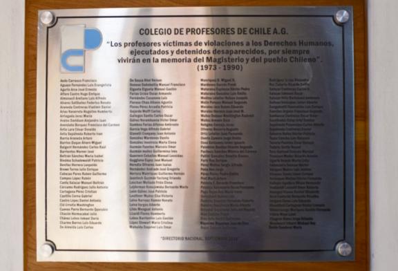 Declaración en el día del detenido desaparecido