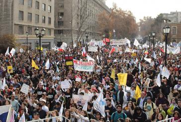 Más de 75 mil profesores coparon la capital en nueva marcha nacional