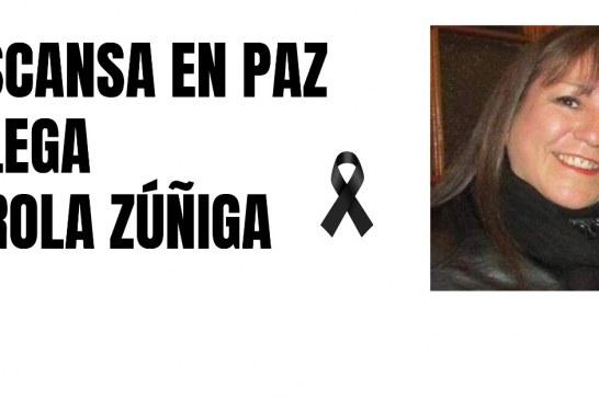 El gremio de luto ante fallecimiento de Carola Zúñiga de Lampa
