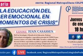 Educación emocional en pandemia: invitación a charla del académico Juan Casassus